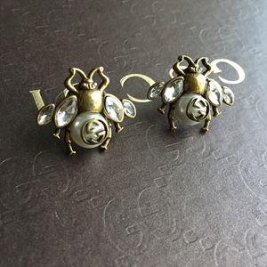 Authentic Crystal Bee Earrings